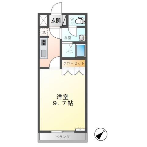 KS・オーシャン 1階の物件の間取図