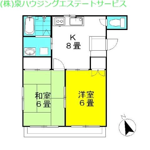 コーポ・アユミ 1階の物件の間取図