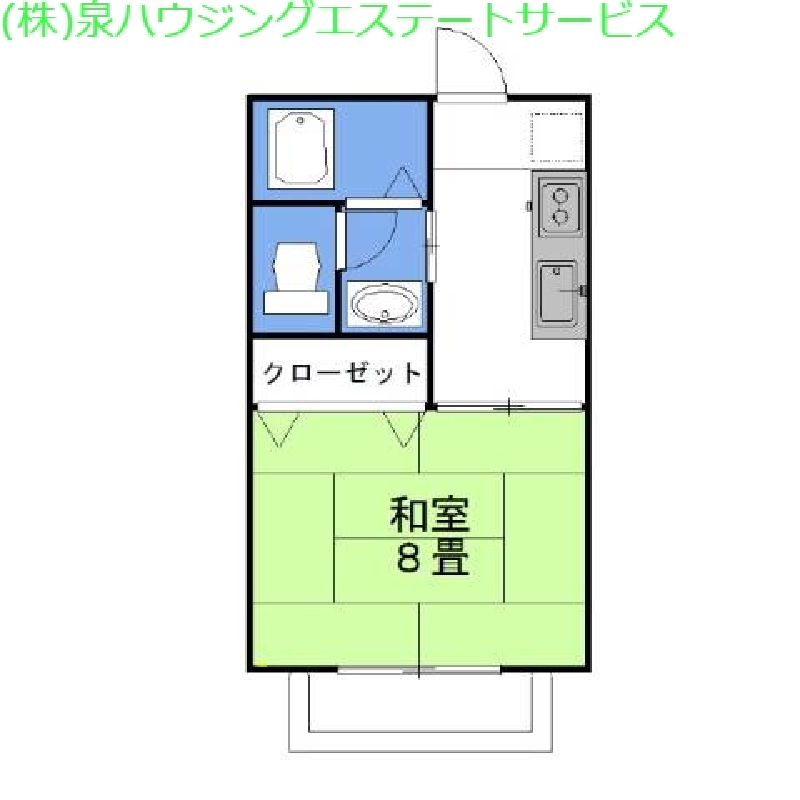 グラシアス・メルシー 2階の物件の間取図