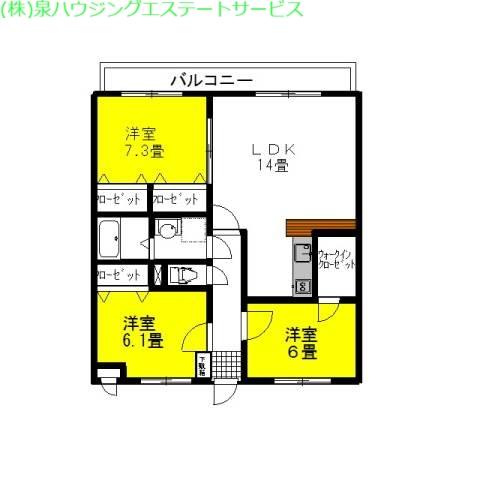 シティコートⅠ 2階の物件の間取図