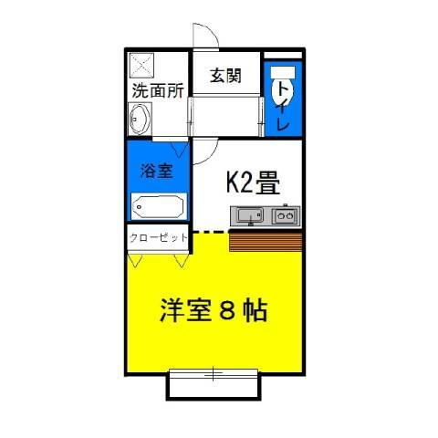 シャングリラ 2階の物件の間取図