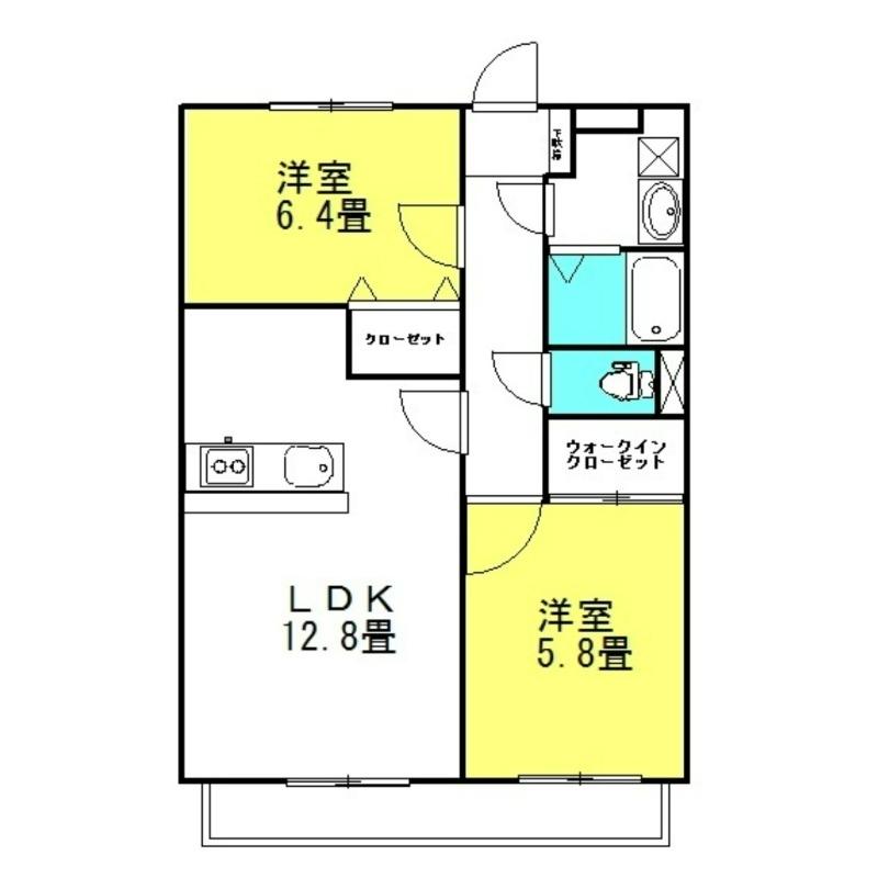 セントラル・フェスタⅣ 2階の物件の間取図