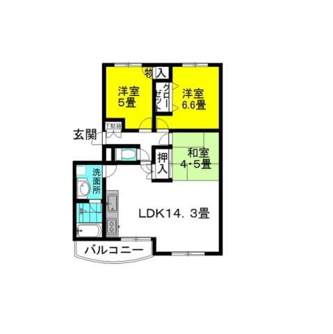 テラーサ・希 3階の物件の間取図