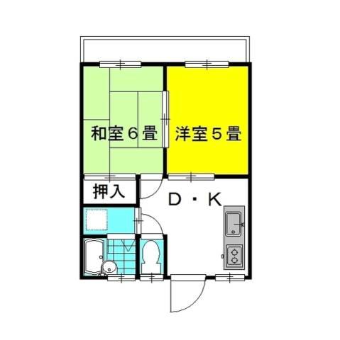 ドエル・ニシノC棟 2階の物件の間取図