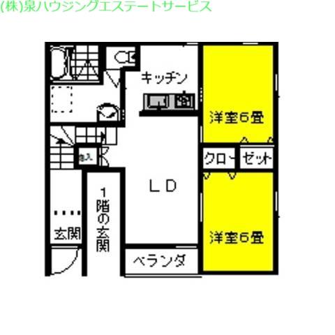 マリンブリーズ・Jr5th 2階の物件の間取図