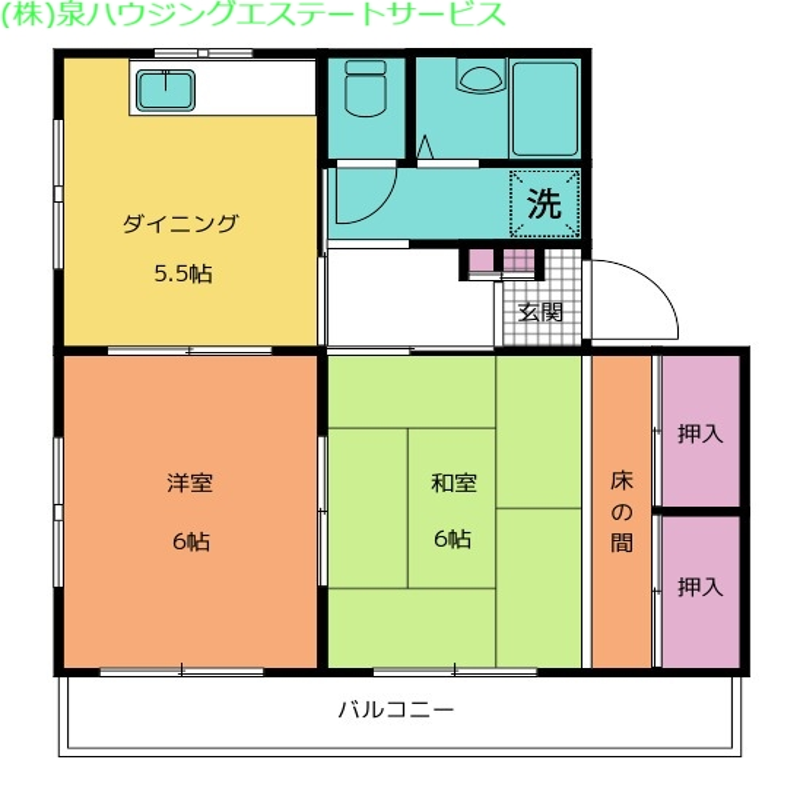 ミルキーウェイ1st 1階の物件の間取図