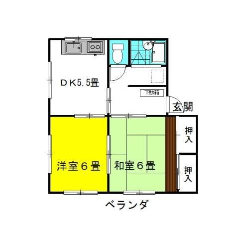 ミルキーウェイ2nd 1階の物件の間取図