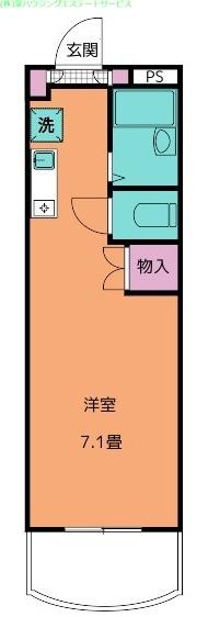 ラ・フォンテ 3階の物件の間取図