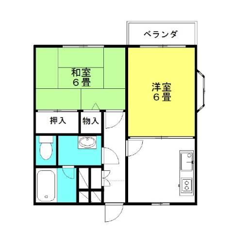ライフピア神栖3 2階の物件の間取図