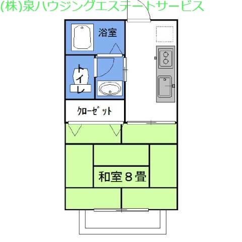 ラフォンテ・ノヴァ East 2階の物件の間取図