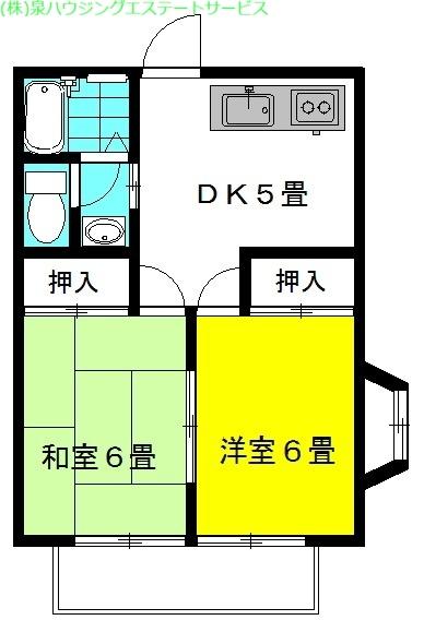 ラベンダー・ボックス 2階の物件の間取図