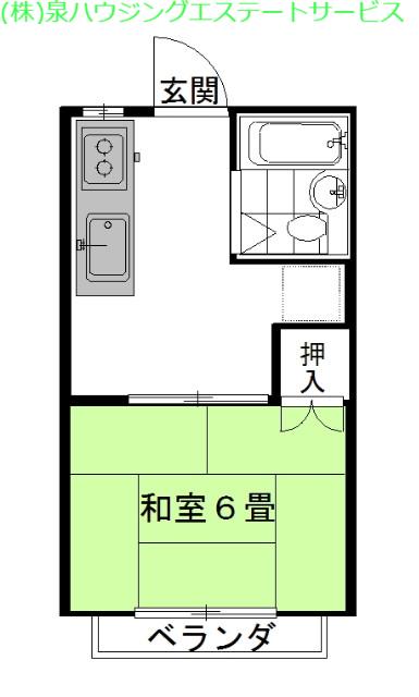 弐番館・飛龍B棟 1階の物件の間取図