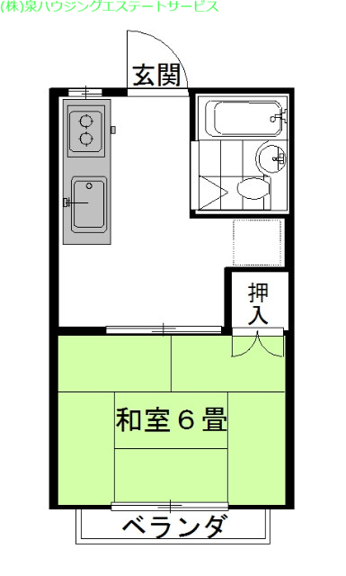 弐番館・飛龍B棟 2階の物件の間取図