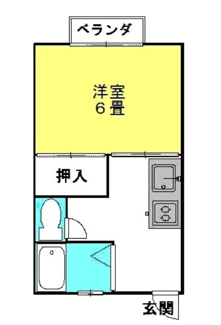カーサ・ナイン 2階の物件の間取図