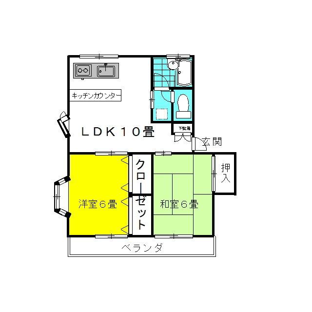 ラッキースタッグ・Pt.Ⅰ 2階の物件の間取図