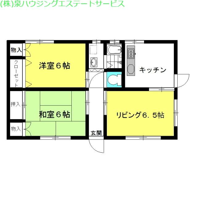 プリムローズ 1階の物件の間取図