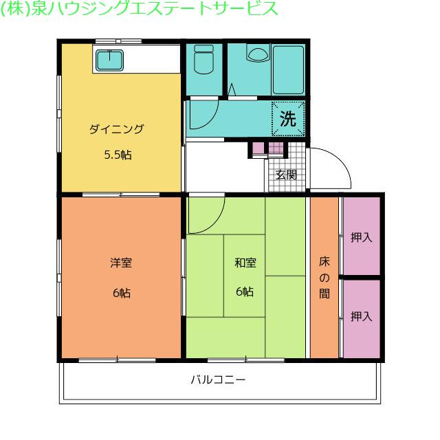 パーク・アヴェニュー 3階の物件の間取図