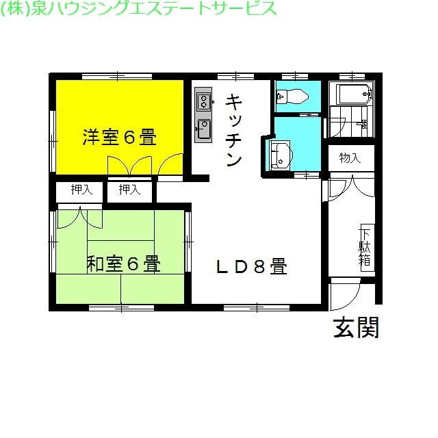 ラフォンテ・ジョイ 1階の物件の間取図