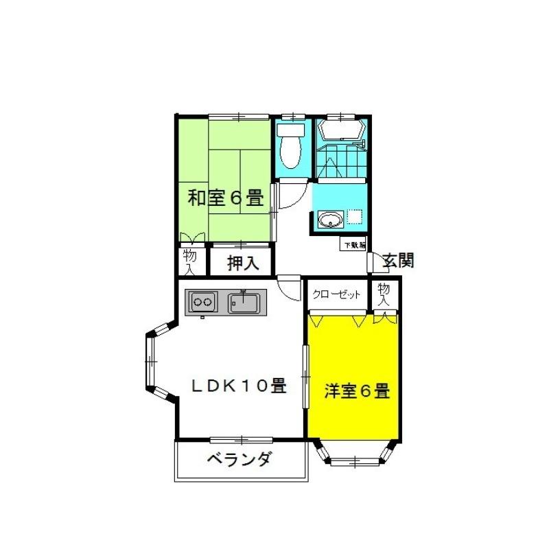 ラッキースタッグ・Pt.Ⅱ 1階の物件の間取図
