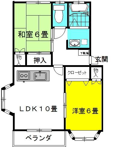 ラッキースタッグ・Pt.Ⅱ 2階の物件の間取図