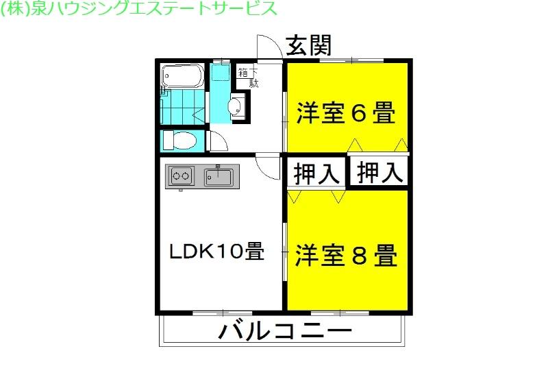 グランシャリオ 3番館 1階の物件の間取図