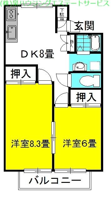 グランシャリオ 5番館 2階の物件の間取図