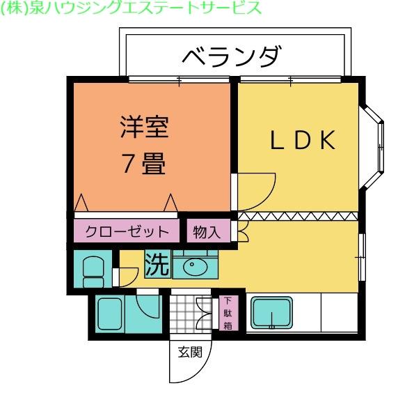 メゾン・ド・リーフ 2階の物件の間取図