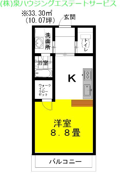 ラフォンテ・ストリートコート 1階の物件の間取図