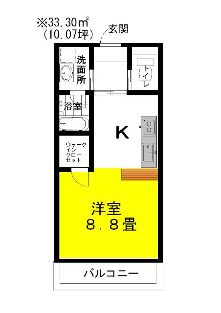 ラフォンテ・ストリートコート 2階の物件の間取図
