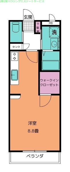 LiberaⅡ 2階の物件の間取図