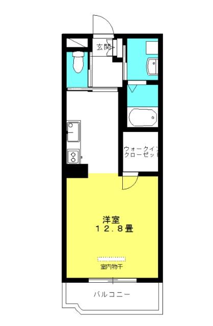 ブランシュM&MⅠ 1階の物件の間取図