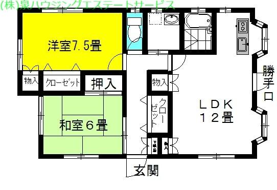 ガーデン・アイリス 1階の物件の間取図
