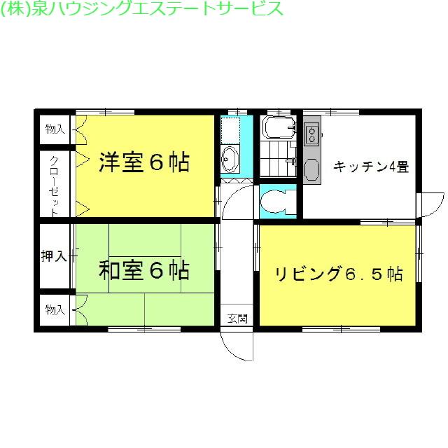 ヴィラ・秋桜 1階の物件の間取図