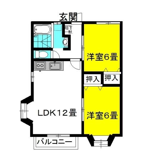 グランシャリオ 3番館 2階の物件の間取図