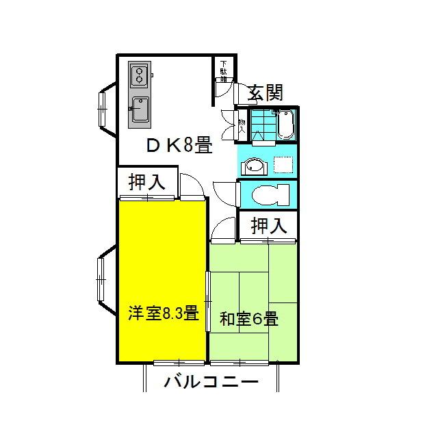 グランシャリオ 5番館 1階の物件の間取図