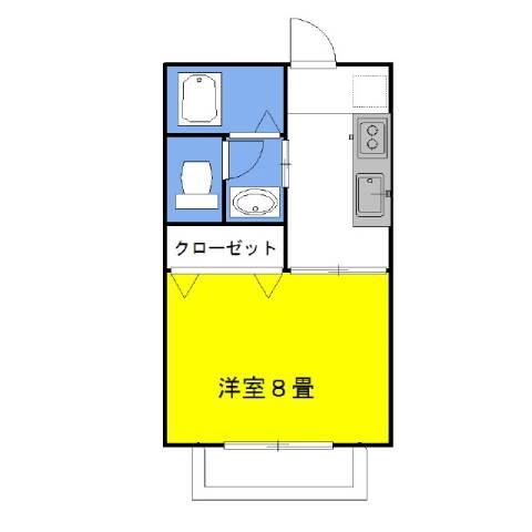 グラシアスWest 1階の物件の間取図