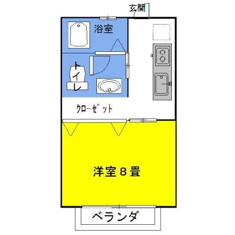 グラシアス・イーグル 2階の物件の間取図