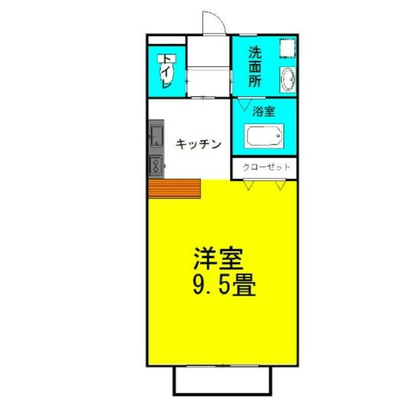 グラシアス・レオーネⅠ 2階の物件の間取図