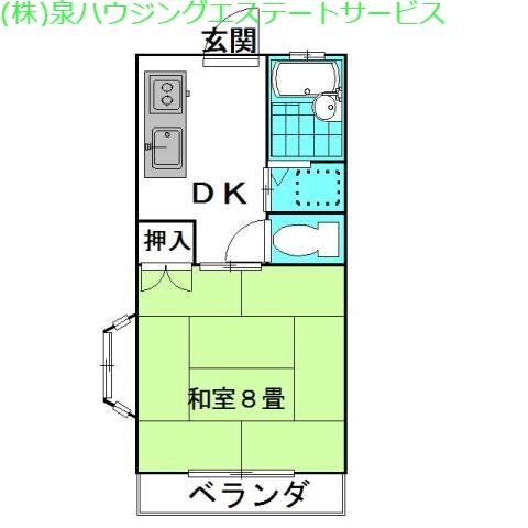ドエル・ニシノA棟 1階の物件の間取図