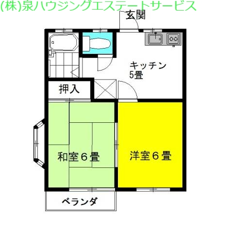 ドルミ・柳堀 2階の物件の間取図