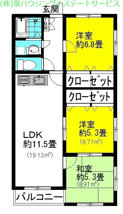 ノーブル・ローズ 4階の物件の間取図