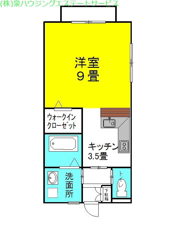 セントラル・フェスタⅡ 1階の物件の間取図