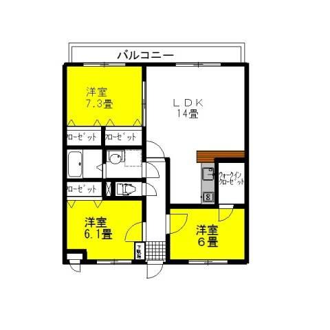 シティコートⅠ 1階の物件の間取図