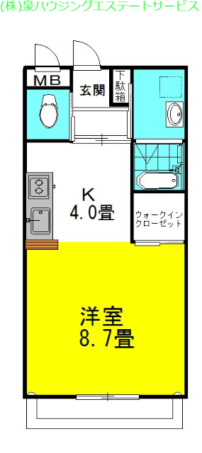 シティコートⅡ 1階の物件の間取図