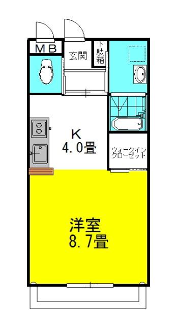 シティコートⅡ 2階の物件の間取図
