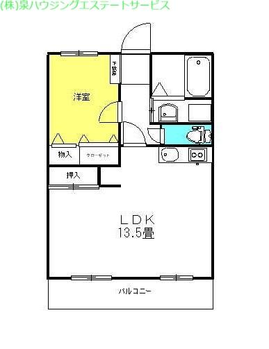 パルク・エクセラン 1階の物件の間取図