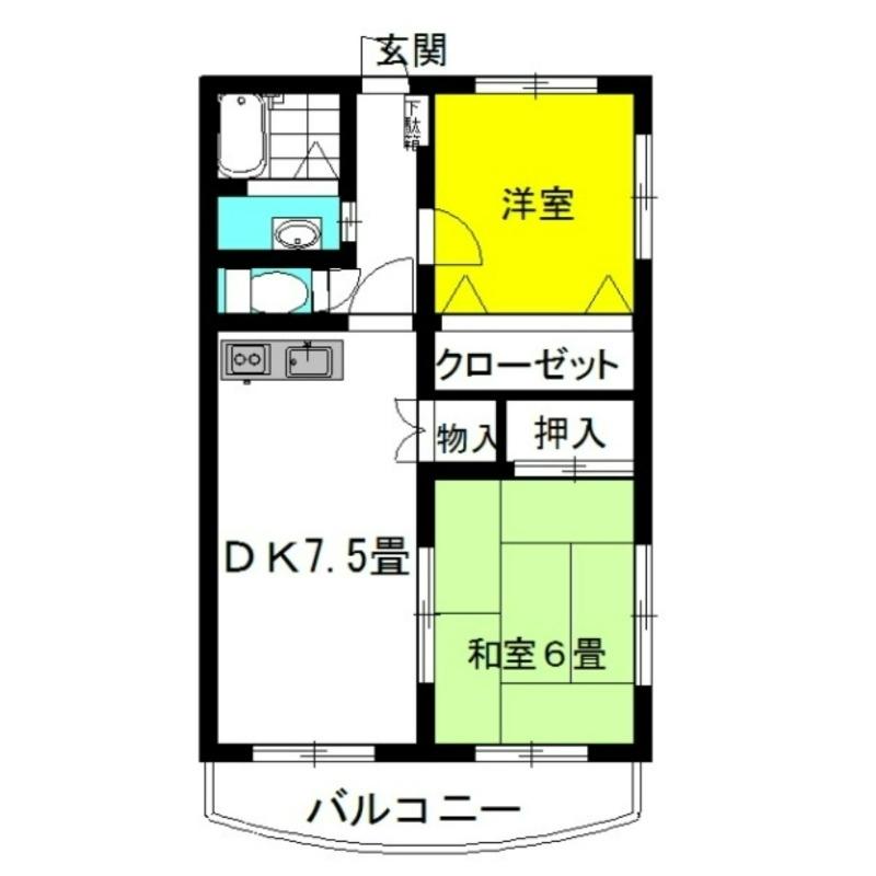 パルク・エクセラン 3階の物件の間取図