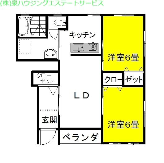 マリンブリーズ・Jr5th 1階の物件の間取図