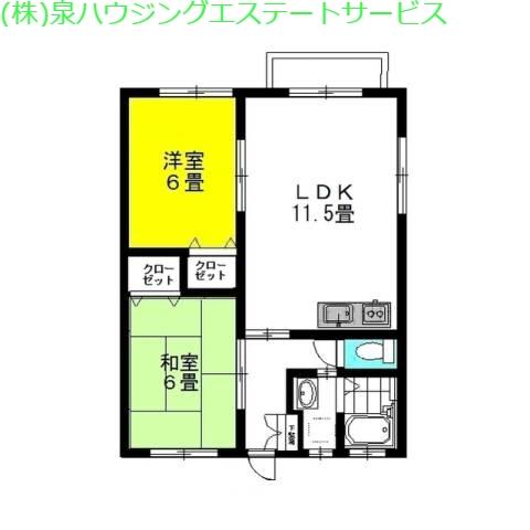 マリンブリーズ・Jr7th 2階の物件の間取図