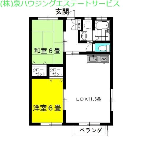 マリンブリーズ・Jr8th 1階の物件の間取図